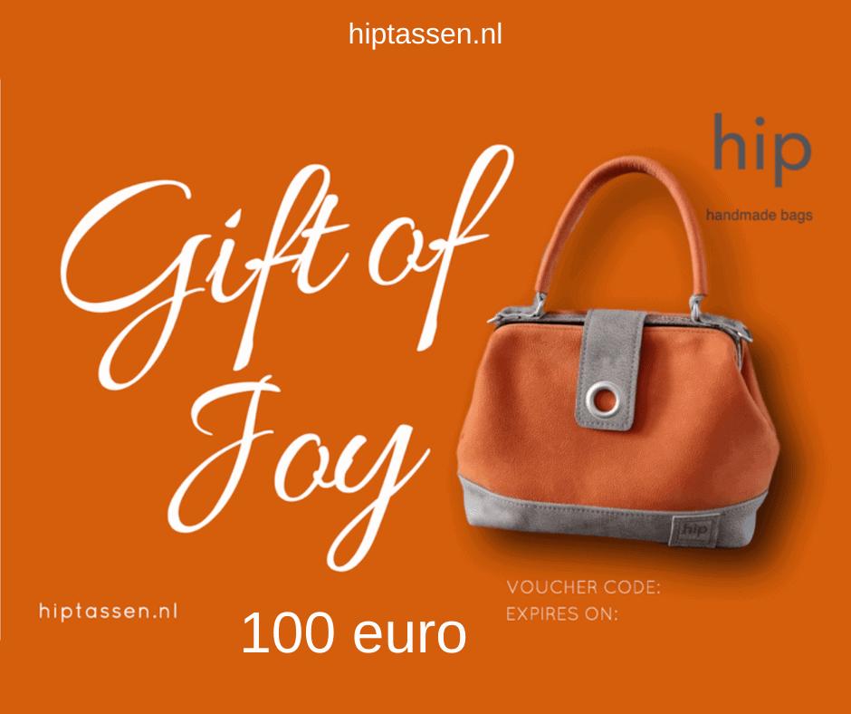 Gift of Joy kadobon 100 euro hiptassen