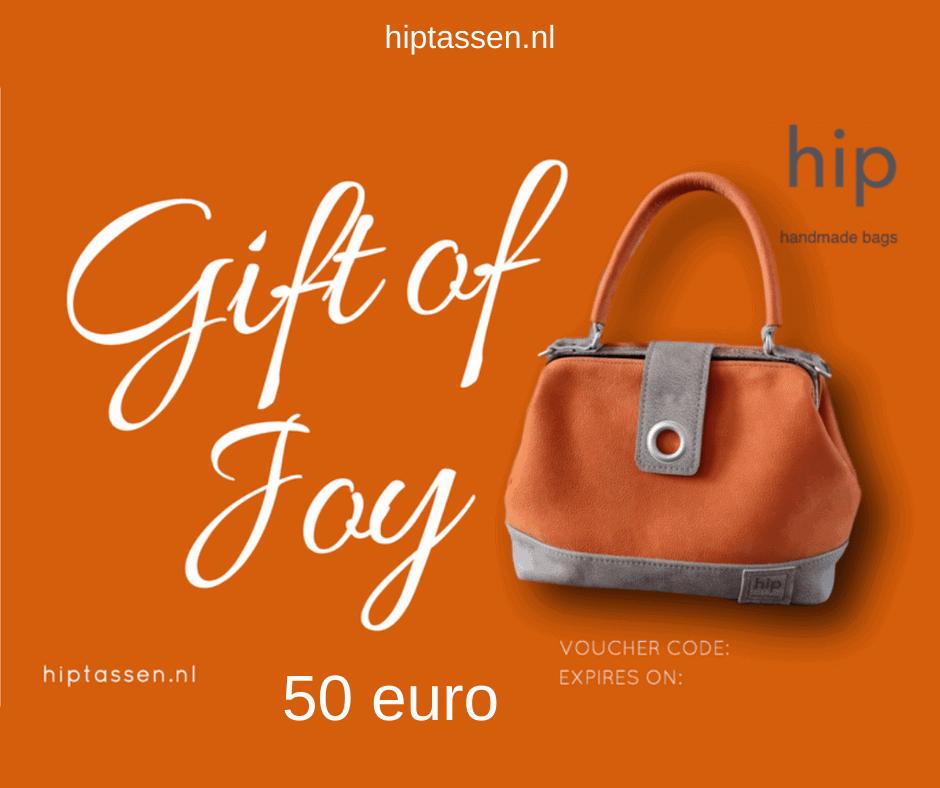 Gift of Joy kadobon 50 euro hiptassen