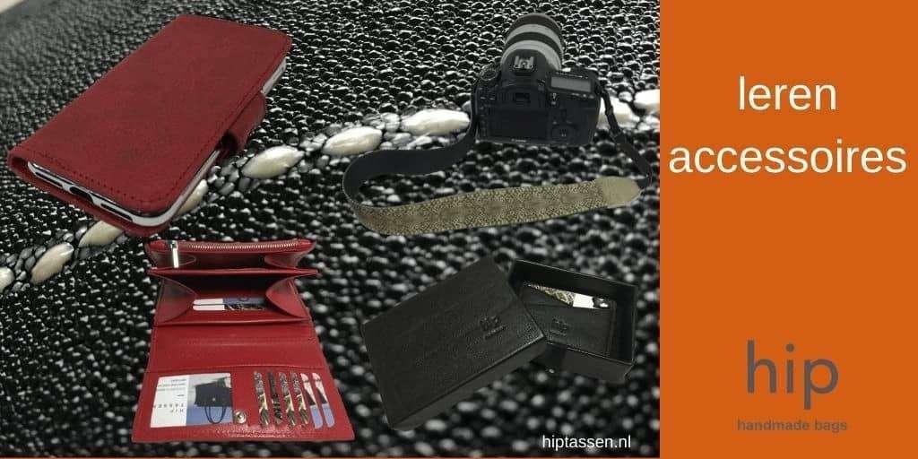 Lederen accessoires ambachtelijk gemaakt