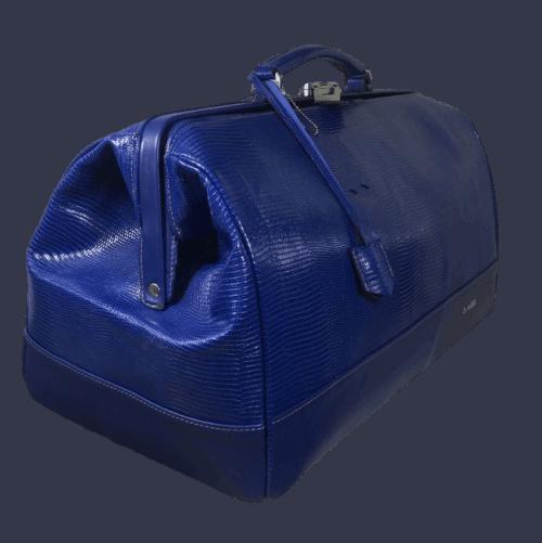 huisartsentas groot blauw croco zijkant hiptassen opmaat gemaakt