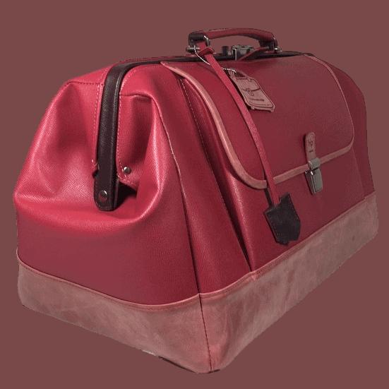 Huisartsentas roze dames zijkant opmaat gemaakt hiptassen